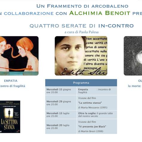 Un Frammento di arcobaleno in collaborazione con Alchimia Benoit - QUATTRO SERATE DI IN-CONTRO
